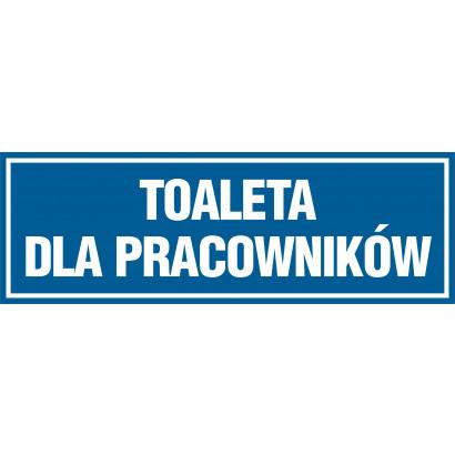 Znak - Toaleta dla pracowników PA621