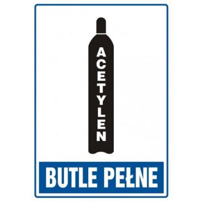 Znak - Butle pełne - acetylen JD006