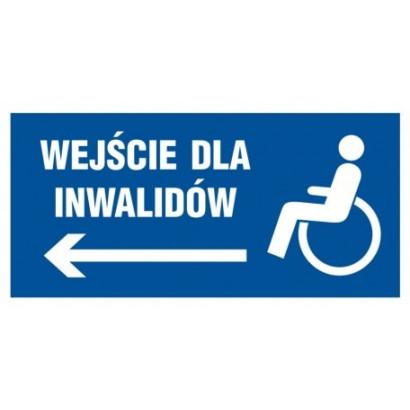 Wejście dla inwalidów w lewo