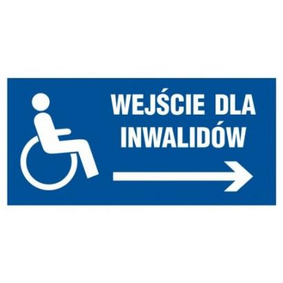 Wejście dla inwalidów w prawo