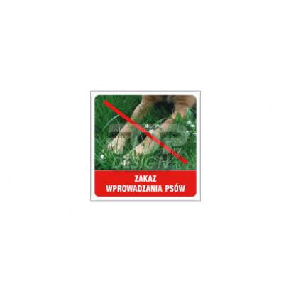 Zakaz wprowadzania psów (3)
