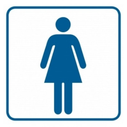 Znak - Toaleta damska 1 RA015