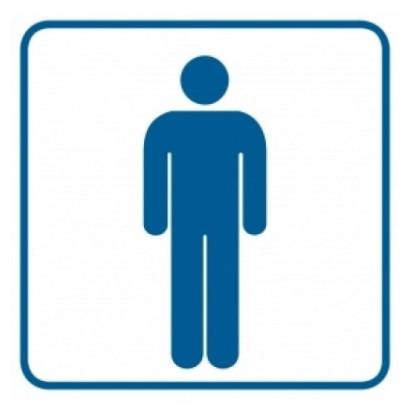 Znak - Toaleta męska 1 RA016