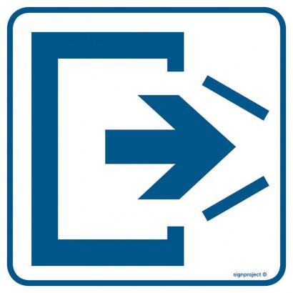 Znak - Uwaga! Drzwi zamykają się samoczynnie. Nie zamykaj na siłę RA066