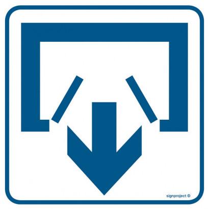 Znak - Wyjście RA068