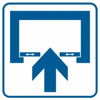 Znak - Uwaga! Drzwi otwierane automatycznie RA069