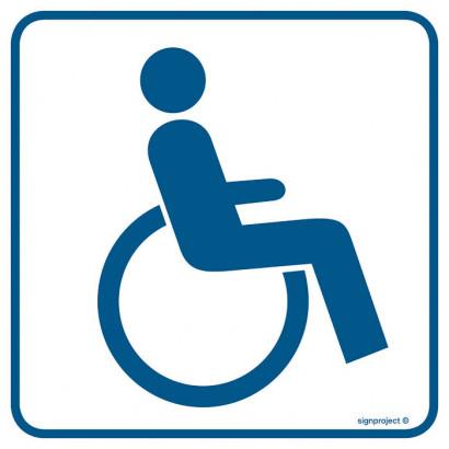 Znak - Miejsce dla inwalidów na wózkach RA071