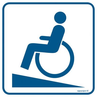Znak - Podjazd dla inwalidów RA072