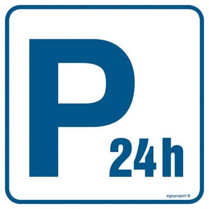 Znak - Parking płatny - czynny całą dobę RA075