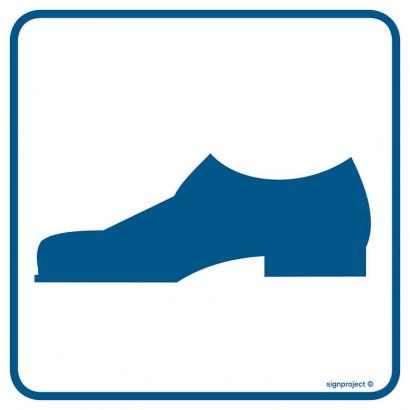 Znak - Tu można wchodzić w obuwiu zewnętrznym RA085