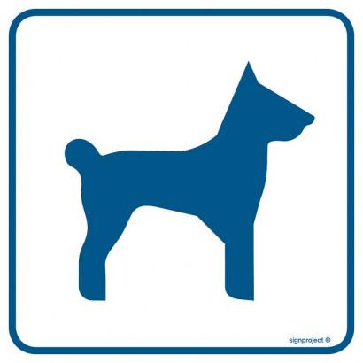 Znak - Tu można wchodzić ze zwierzętami RA086