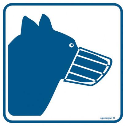 Znak - Psy wprowadzać w kagańcu RA102