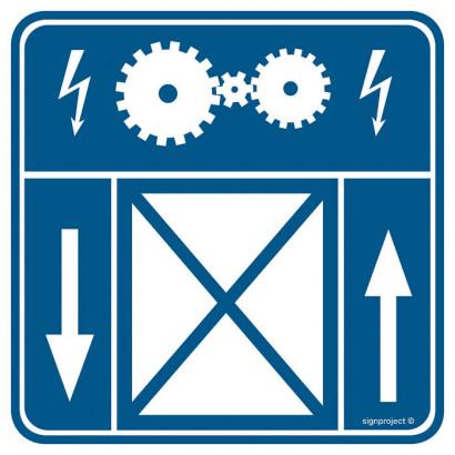 Znak - Maszynownia dźwigu RA106
