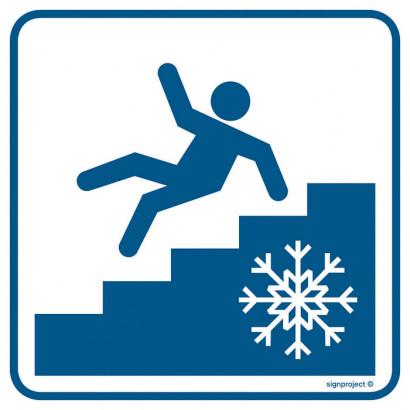 Znak - Uwaga! Śliskie schody RA108