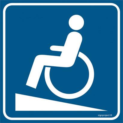 Znak - Podjazd dla niepełnosprawnych RA115