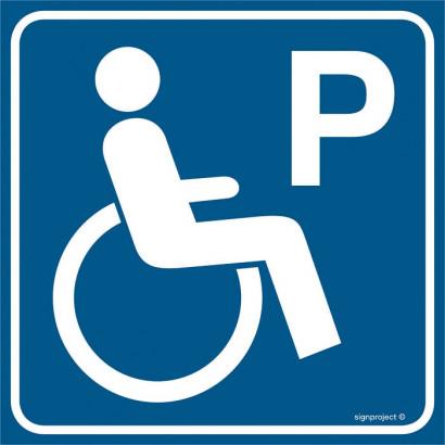 Znak - Parking dla niepełnosprawnych RA116