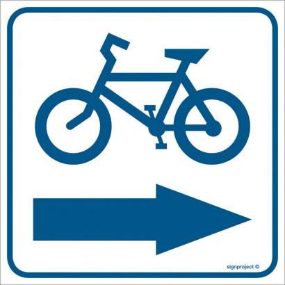 Znak - Kierunek ścieżki rowerowej 1 RA119