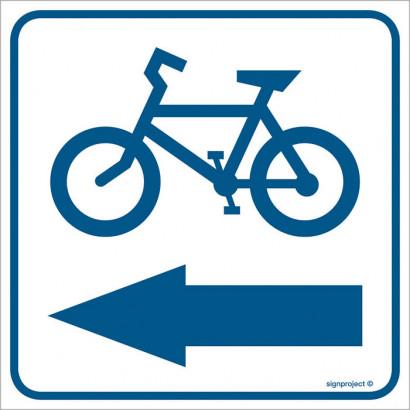 Znak - Kierunek ścieżki rowerowej 2 RA120
