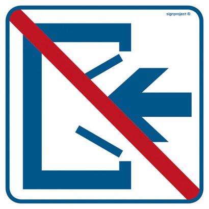 Znak - Wejście zamknięte RA500