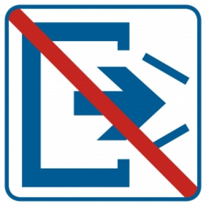 Znak - Wyjście zamknięte RA501