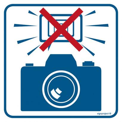 Znak - Zakaz fotografowania z użyciem lamp błyskowych RA504