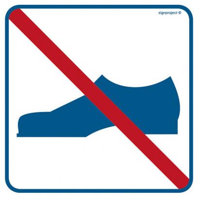 Znak - Zakaz używania obuwia RA506