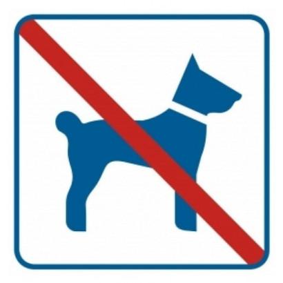 Znak - Zakaz wprowadzania psów RA507