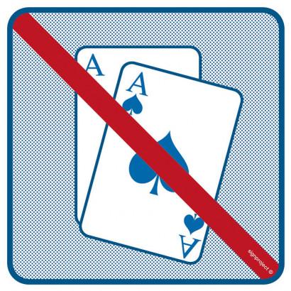 Znak - Zakaz uprawiania gier hazardowych RA509