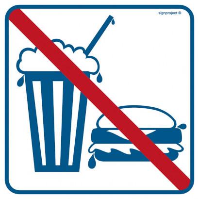 Znak - Zakaz spożywania posiłków i napojów RA512