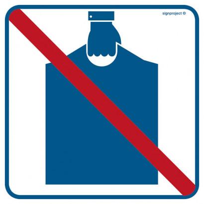 Znak - Zakaz wnoszenia podręcznego bagażu RA514