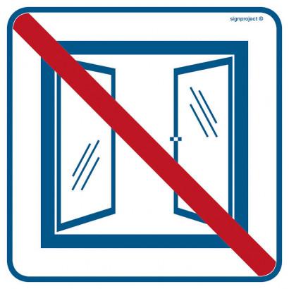 Znak - Nie otwierać obiekt klimatyzowany RA515