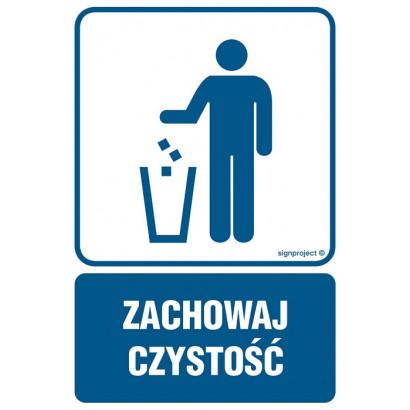 Zachowaj czystość - kosz na odpadki