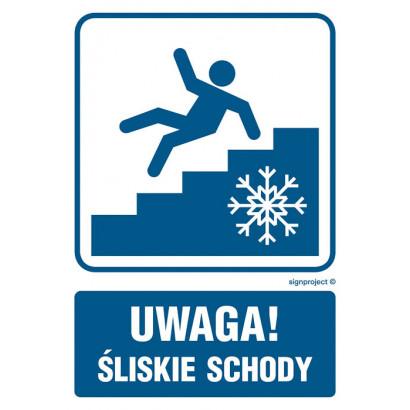 Uwaga! Śliskie schody