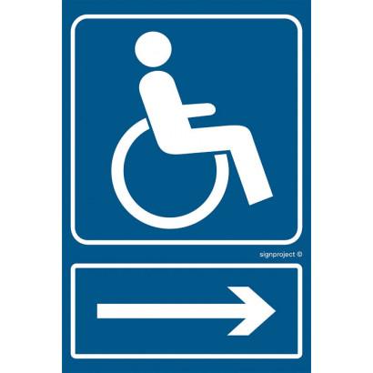 Kierunek drogi dla niepełnosprawnych /w prawo/