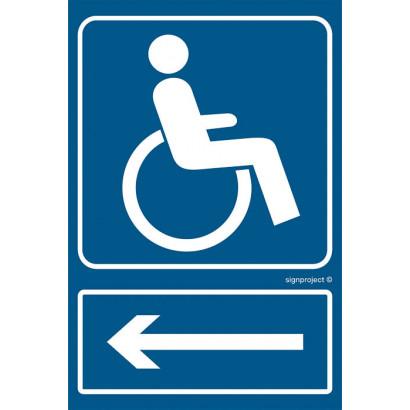 Kierunek drogi dla niepełnosprawnych /w lewo/