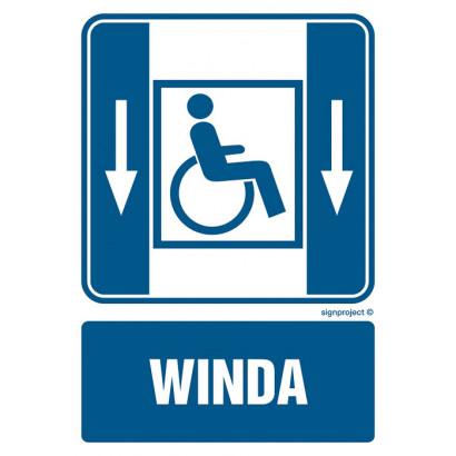 Dźwig osobowy dla niepełnosprawnych w dół