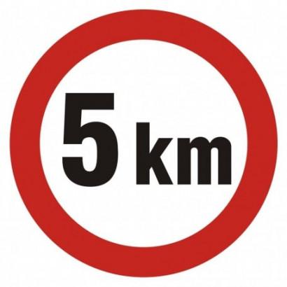 Ograniczenie prędkości 5 km