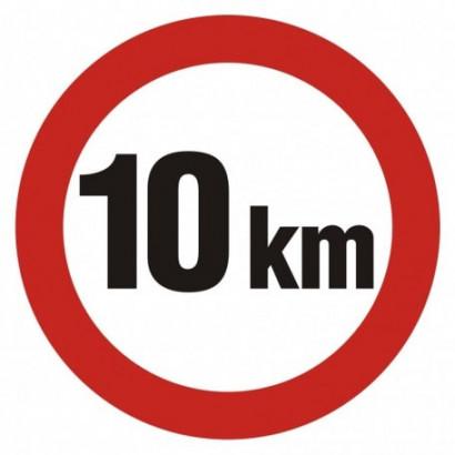 Ograniczenie prędkości 10 km