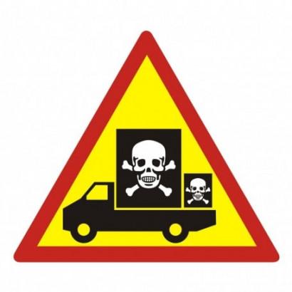 Znak - Samochód przewozi niebezpieczny ładunek SC002