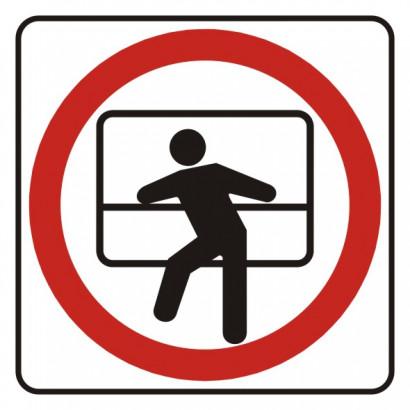Zakaz wychylania się przez okno