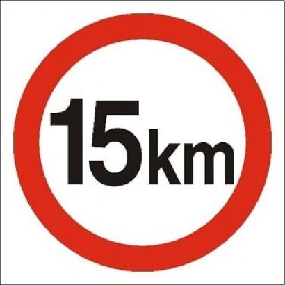 Ograniczenie prędkości 15 km