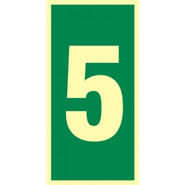 Znak - Numer stacji ewakuacyjnych nr 5 FB028