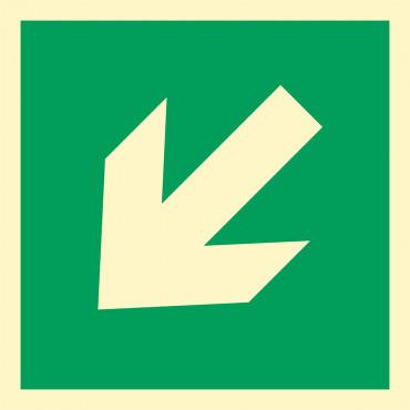 """Znak ewakuacyjny """"Kierunek drogi ewakuacyjnej"""""""