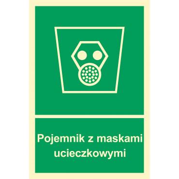 Znak - Pojemnik z maskami ucieczkowymi AB003