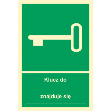 Znak - Klucz do ... znajduje się .... AB010