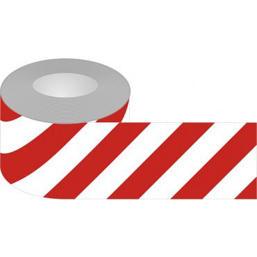 Znak - Taśma samoprzylepna biało-czerwona podłogowa EA036