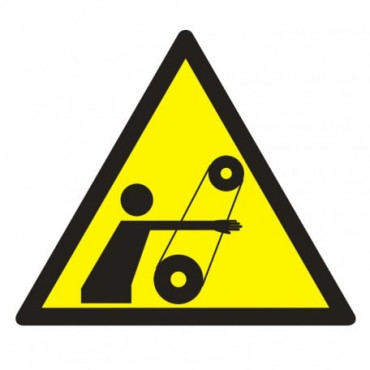 Znak - Uwaga, ruchome elementy GE018
