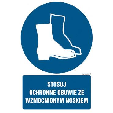 Znak - Stosuj ochronne obuwie ze wzmocnionym noskiem GL030