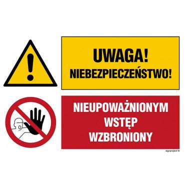 Uwaga! Niebezpieczeństwo Nieupoważnionym wstęp wzbroniony.