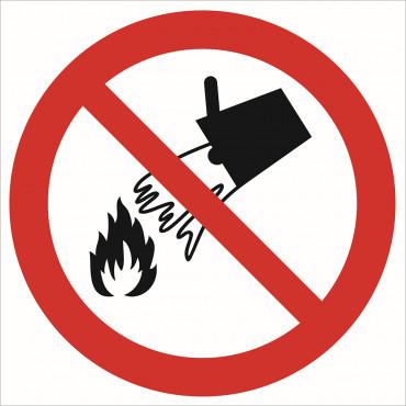 Zakaz gaszenie wodą